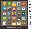 vector flat icon-set 6 - stock vector