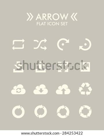 Vector Flat Icon Set - Arrow  - stock vector