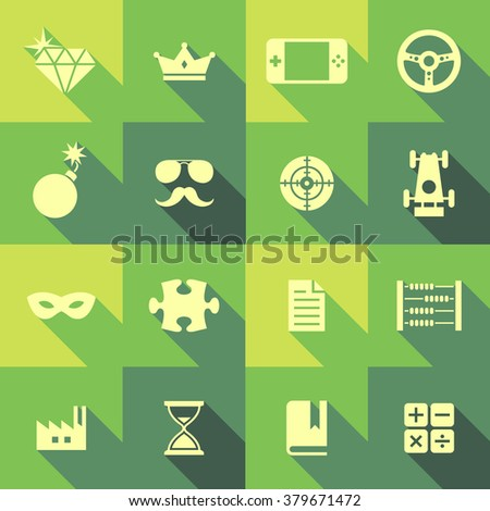 Vector Flat Icon Set - Objects