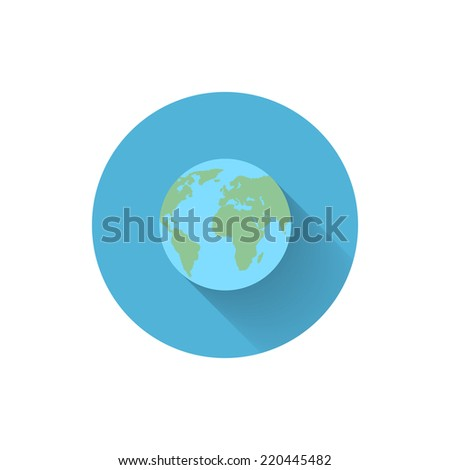 Vector Flat Icon.World - stock vector