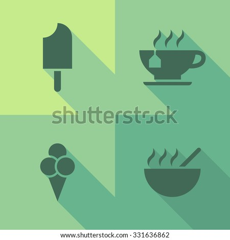 Vector Flat Icons - Gastronomy - stock vector