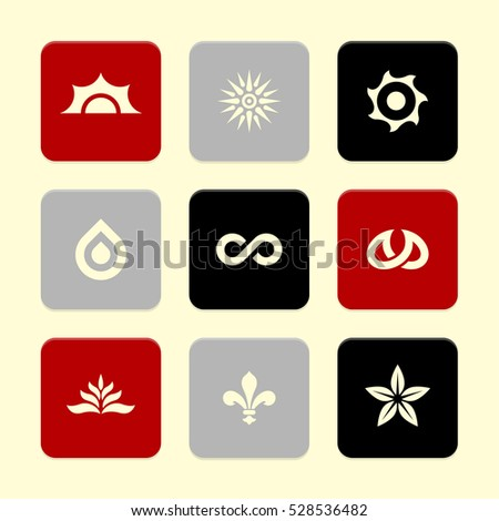 Vector Flat Icons Set - Nature Symbols