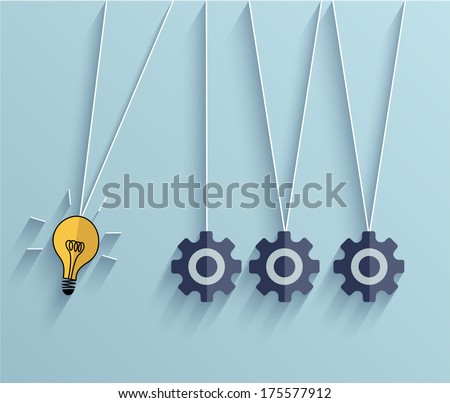 Vector flat idea business background. Eps 10 - stock vector