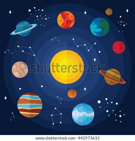 solar system vector - photo #20