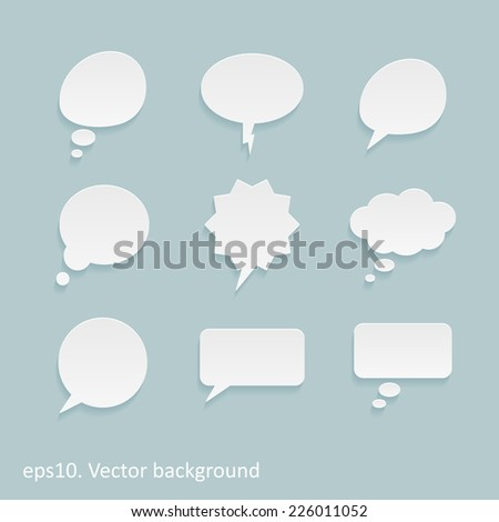 Vector flat speech bubble dialog icons - stock vector