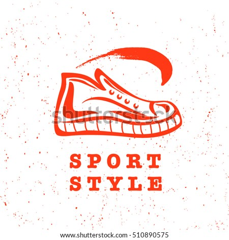 Vector Flat Sport Shoe Brand Mark Stock Vector Royalty Free