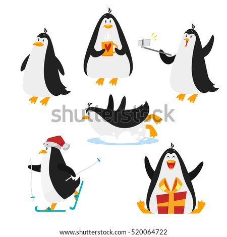 Penguin Cartoon Stock Images, Royalty-Free Images & Vectors