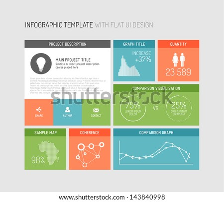Vector Flat User Interface Ui Infographic Stock Vector 143840998 ...