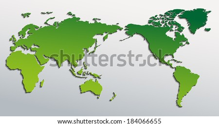 Vector flat world map pacific ocean vector de stock184066655 vector flat world map with pacific ocean planet earth background all the continents of gumiabroncs Choice Image