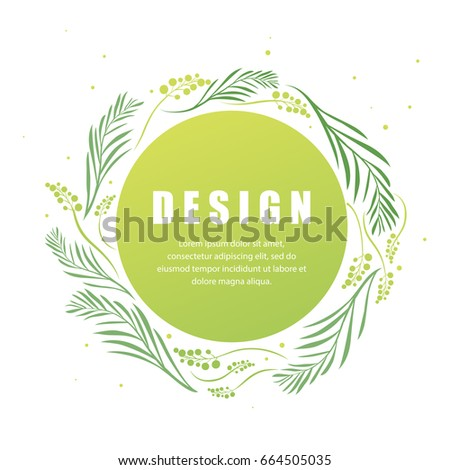 Vector Floral Abstract Leaf Background Design Modern Nature Template For Banner Flyer Card