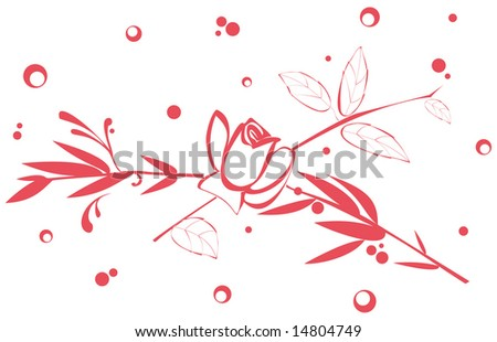 Vector floral background. - stock vector