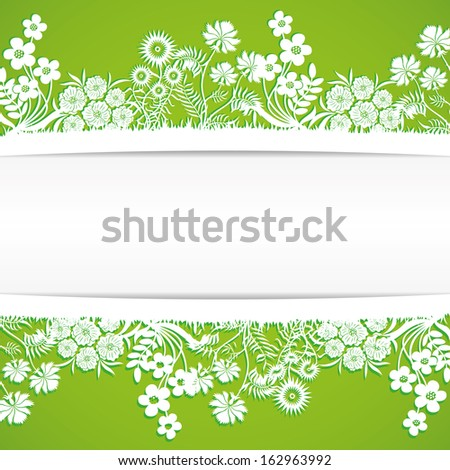 Vector. Floral background. - stock vector