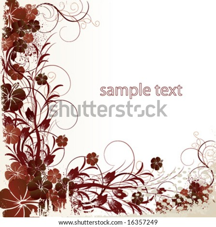 vector floral background - stock vector