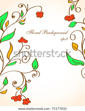 Vector Floral background. eps8 for you design