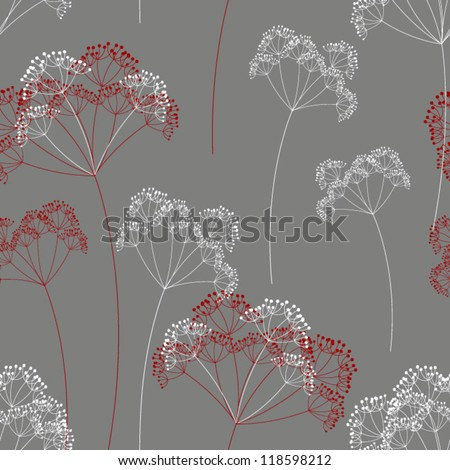 Vector floral background. Seamless floral pattern - stock vector