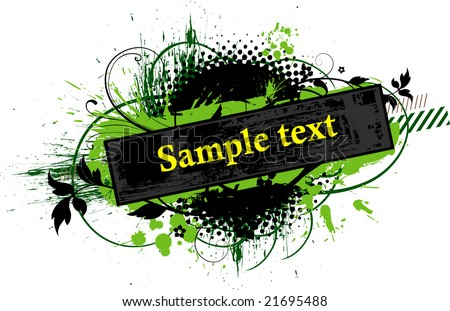 vector floral background so you can add your own images 2 - stock vector