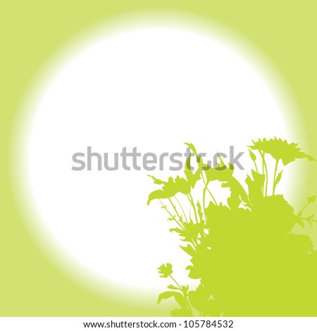 Vector floral background - Wild Herbs and Summer Flowers - stock vector