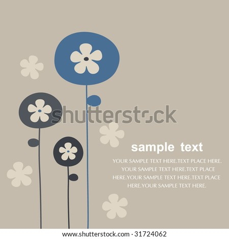 vector floral backgrounds design - stock vector
