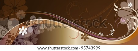 Vector  floral banner - stock vector