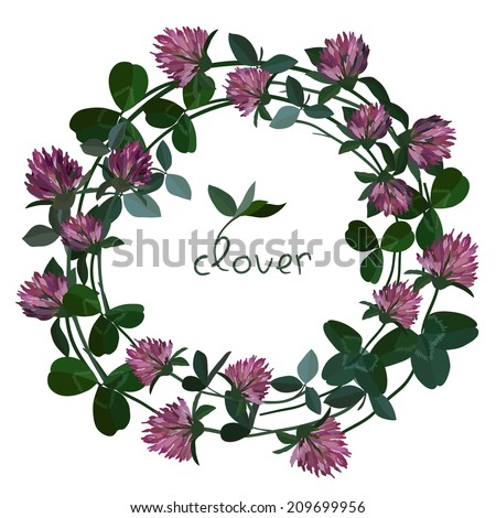 Vector floral card - stock vector
