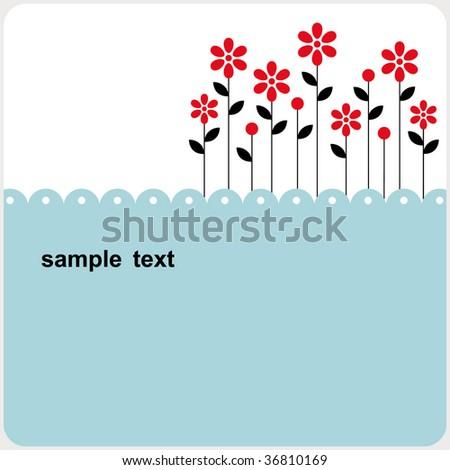 vector floral card design - stock vector