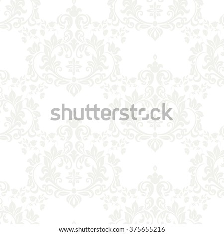 Vector floral damask pattern background. Luxury classic floral damask ornament, royal Victorian vintage texture for wallpapers, textile, fabric. Delicate floral baroque element.  - stock vector