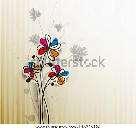 vector floral design element background. - stock vector
