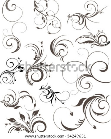 vector floral element - stock vector