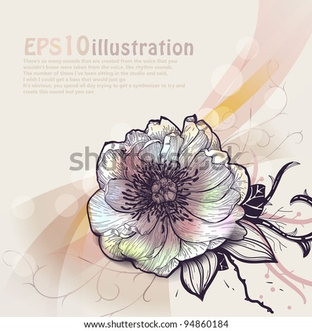 vector floral illustration - stock vector