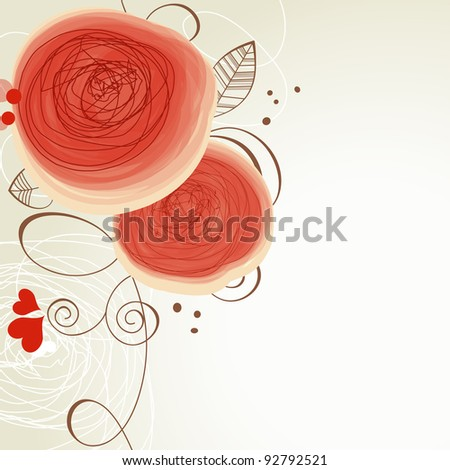 Vector floral ornament - stock vector