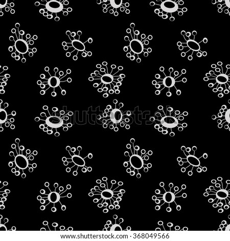 Vector floral pastel pattern. Seamless cute background. - stock vector