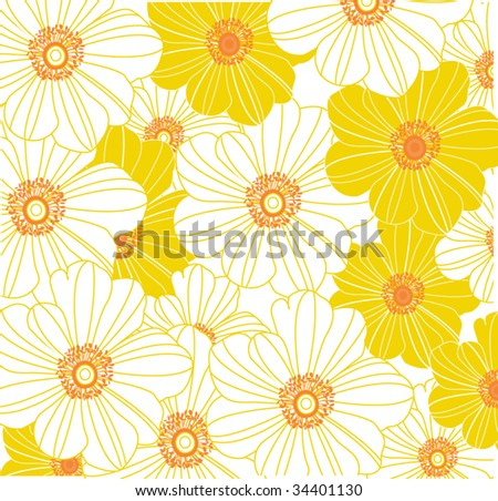 Vector Floral Pattern - stock vector