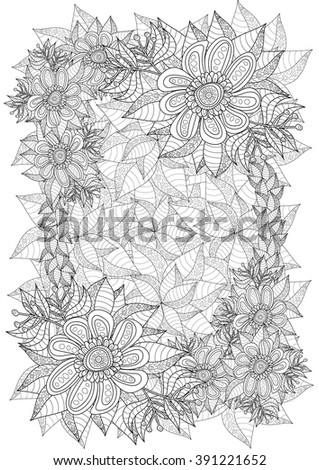 Coloring Book Page For Adult Format A4