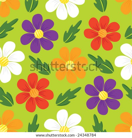 vector floral seamless pattern - stock vector