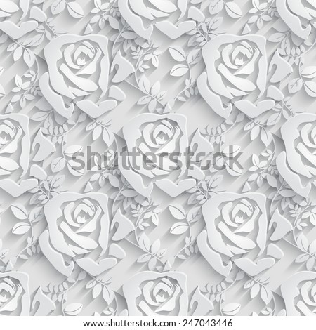Vector Floral  Seamless Pattern Background. - stock vector
