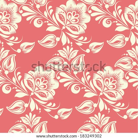 Vector Floral seamless pattern. Background can be used for wallpaper,  fills, web page, surface textures. - stock vector