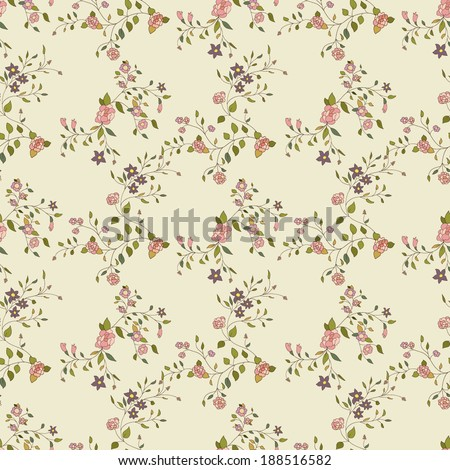 Vector floral seamless texture