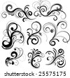 Illustration of black filigree pattern tattoo