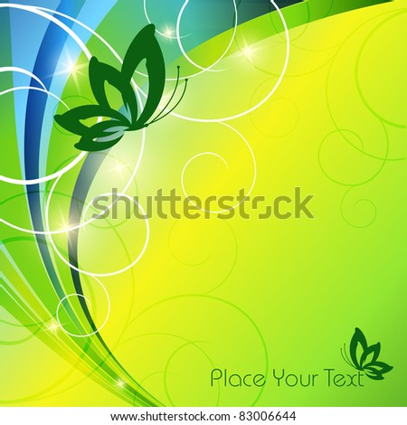 vector floral template with copy space. Eps10