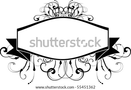 vector floral wine label - stock vector