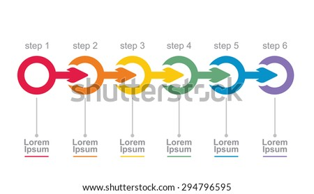 Vector Flow Chart Template Arrows Stock Vector