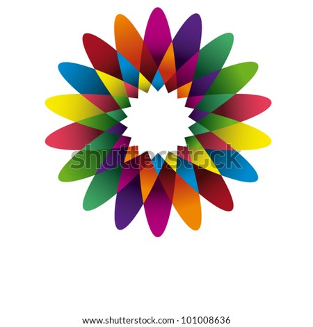 vector flower - stock vector