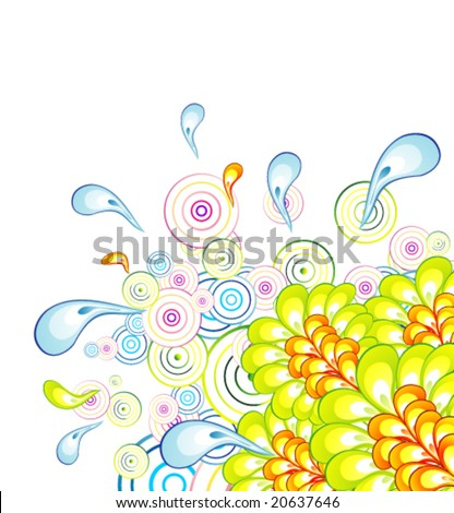 VECTOR Flower Abstract fanstasy colorful background