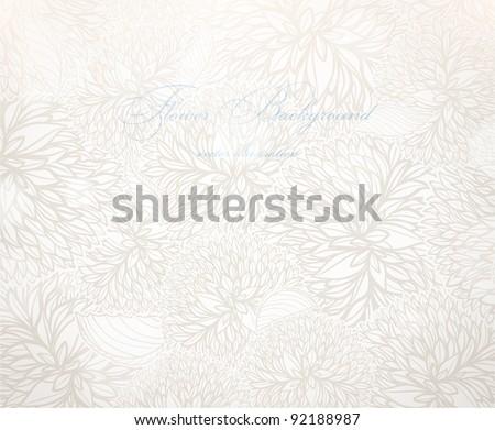Vector Flower Background - stock vector