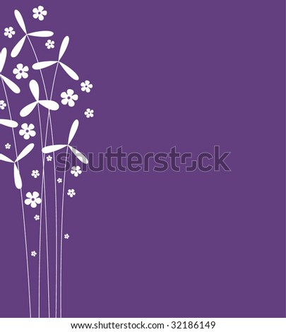 vector flower background design - stock vector