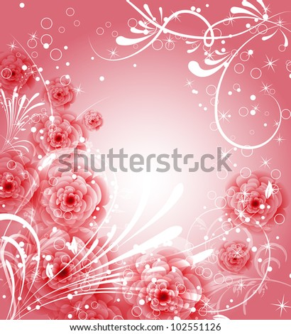 vector flower background for invitation