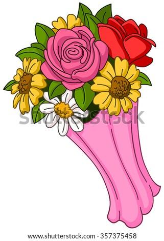 Vector Flower Bouquet Stock 357375458
