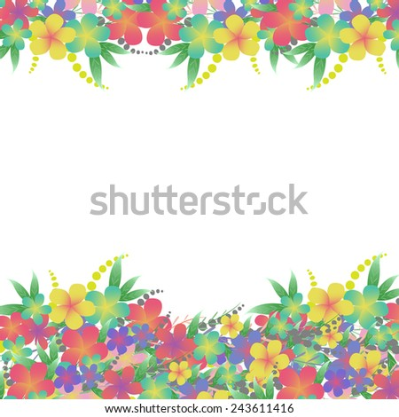 Vector Flower bouquet greeting card background  - stock vector