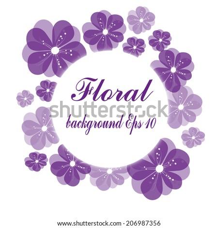 vector flower card - stock vector