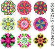 Vector Flower Icons - stock vector